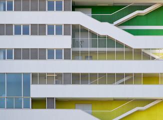 Residential building facade.