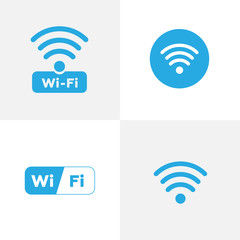 Free wi-fi icons and wifi applications. Wireless and wifi vector