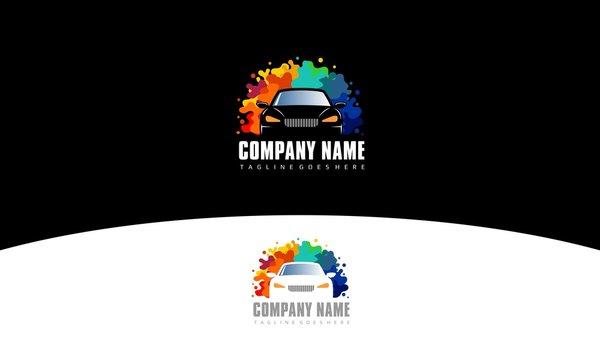 Car Paint Logo - Colorful Splash Vector