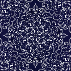 Elegance damask floral seamless pattern.