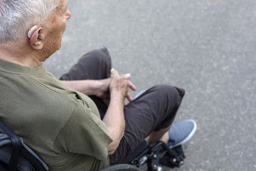 Senior man in a wheelchair
