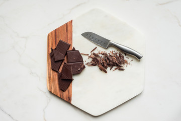dark chocolate chopped into slivers