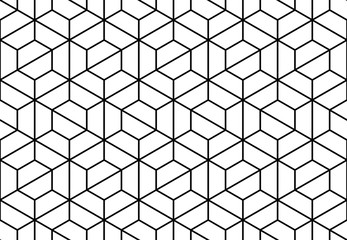The geometric pattern with lines . Seamless vector background. White and black texture. Graphic modern pattern
