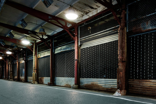 Abandoned fish market in New York City