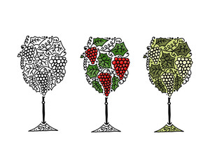 Wine, sketch for your design