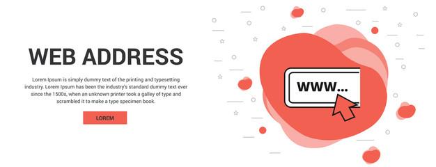 web address vector thin line icon