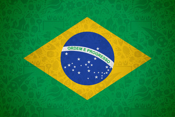 Brazil flag background for russian soccer event
