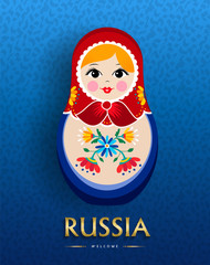 Russian nesting doll poster for russia travel