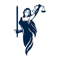lady law vector for firm logo