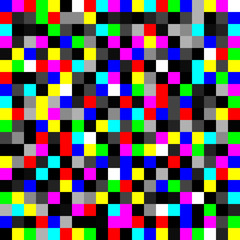 Seamless geometric color pixel noise pattern vector illustration