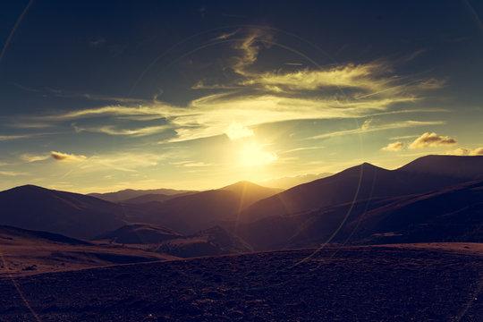 Landscapes at sunset series.