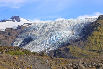 Falljokull Glacier (Falling Glacier) in Iceland