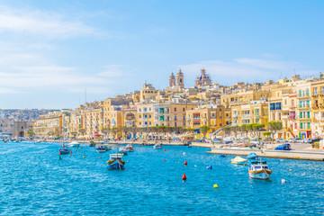 Coastline of Senglea town in Malta