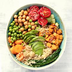 Vegan buddha bowl.