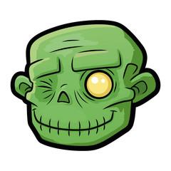 Smiling zombie head 2