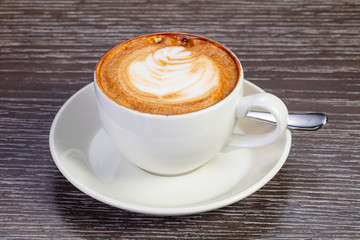 Hot tasty cappuccino
