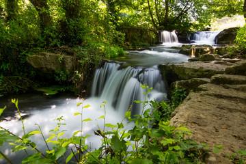 Foto op Textielframe Watervallen Waterfalls of Monte Gelato in the Valle del Treja near Mazzano Romano, Lazio, Italy