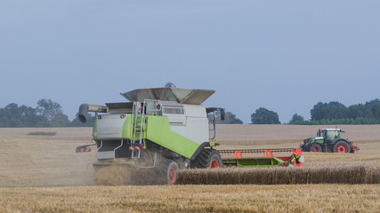 COMBINE HARVESTERS - Agricultural machinery on the field