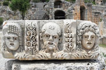 Printed kitchen splashbacks Turkey Ancient stonework at Myra in Demre in Turkey.