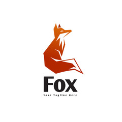 Stand up fox logo