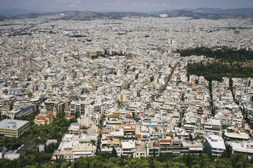 Cityscape of Athens on a sunny day