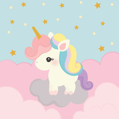 cute unicorn vector