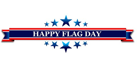 Happy Flag Day of USA, web banner or template with text