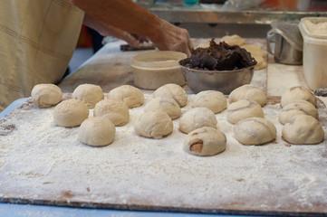 Reb Bean Bun Preparation