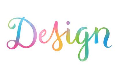 DESIGN brush calligraphy icon