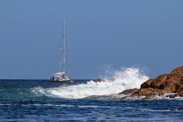 Seascape near Cala Pregonda, Menorca, Spain
