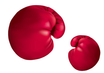 Vector drawn boxing gloves, isolated on white background.