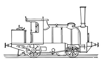 steam locomotive railway #vector #isolated - Lokomotive Dampflok