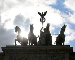 Berlin Germany quadriga with four horses