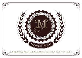 monogram luxury with decorative frame