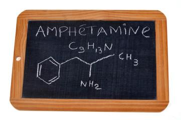 Formule chimique de l'amphétamine