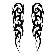 tattoos ideas sleeve designs – tribal tattoo pattern vector illustration
