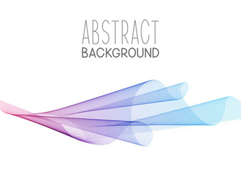 Abstract background with wave element