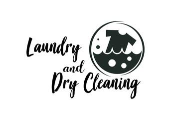 Laundry logo emblems and design