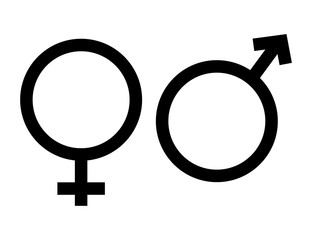 gender icon in trendy flat style on white background. gender symbol for your web site design, logo, app, UI. Heterosexual gender symbol. symbols of men and women.