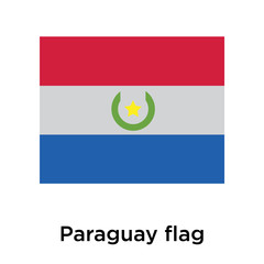 Paraguay flag icon vector sign and symbol isolated on white background, Paraguay flag logo concept