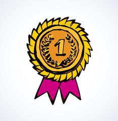 Medal. Vector drawing