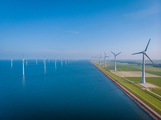 Wind mill park, windmill farm green energy concept