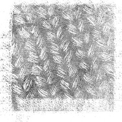 Knitted fabric background close up.   Grunge Texture Background. Vintage Effect With Noise And Grain. Black And White Texture