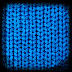 Knitted fabric background close up.