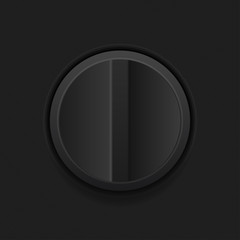 Black interface turning button