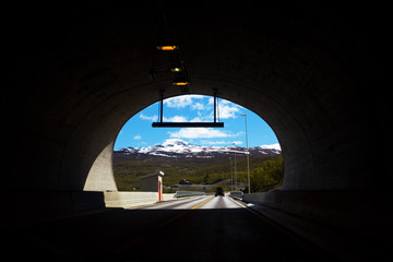 Papiers peints Tunnel tunnel in the Norwegian mountains