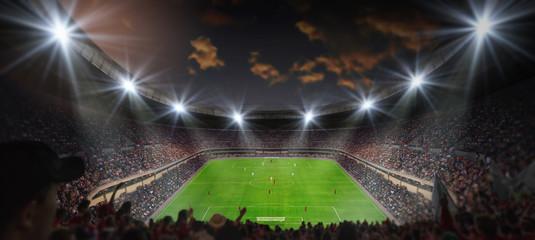 fussballspiel im stadion