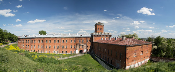 Panorama with a view of the barracks building of the Modlin Fortress - Poland - Europe
