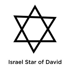 Israel Star of David icon vector sign and symbol isolated on white background, Israel Star of David logo concept