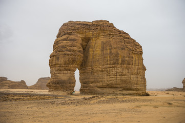Giant arch in the Elephant rock, Al Ula, Saudi Arabia, Middle East